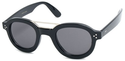 Angle of SW Retro Style #54049 in Black Frame, Women's and Men's