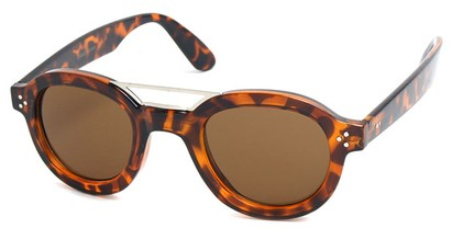 Angle of SW Retro Style #54049 in Brown Tortoise Frame, Women's and Men's