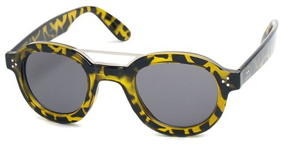 Angle of SW Retro Style #54049 in Yellow Tortoise Frame, Women's and Men's
