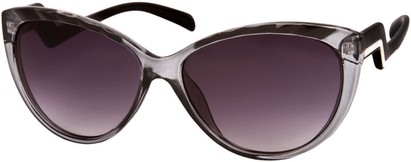 Angle of SW Cat Eye Style #3190 in Grey/Black Frame, Women's and Men's