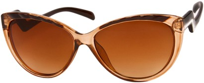 Angle of SW Cat Eye Style #3190 in Brown/Black Frame, Women's and Men's