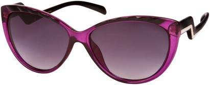Angle of SW Cat Eye Style #3190 in Purple/Black Frame, Women's and Men's