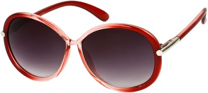 Angle of SW Round Style #9141 in Red Fade Frame, Women's and Men's