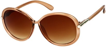Angle of SW Round Style #9141 in Tan/Brown Fade Frame, Women's and Men's