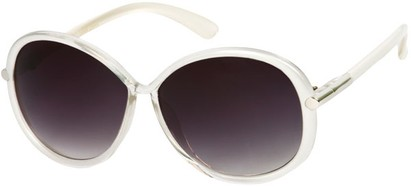 Angle of SW Round Style #9141 in Silver Fade Frame, Women's and Men's
