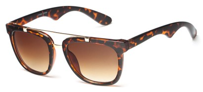 Angle of Middy #215 in Brown Tortoise/Gold Frame with Amber Lenses, Women's and Men's Aviator Sunglasses
