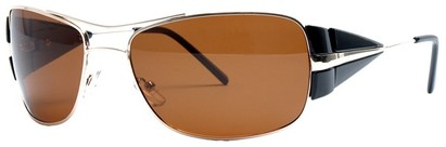 Angle of SW Polarized Aviator Style #4730 in Black/Gold Frame, Women's and Men's