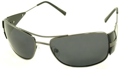 Angle of SW Polarized Aviator Style #4730 in Glossy Gray Frame, Women's and Men's