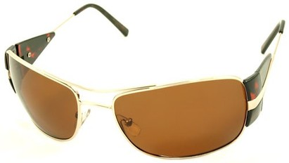 Angle of SW Polarized Aviator Style #4730 in Gold/Tortoise Frame, Women's and Men's