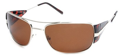 Angle of SW Polarized Aviator Style #4730 in Silver/Tortoise Frame, Women's and Men's