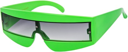 Angle of SW Retro Style #1402 in Lime Green Frame, Women's and Men's