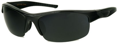 Angle of SW Polarized Style #9785 in Black Frame with Smoke Lenses, Women's and Men's