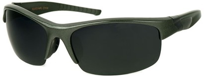 Angle of SW Polarized Style #9785 in Green/Grey Frame with Smoke Lenses, Women's and Men's