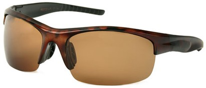 Angle of SW Polarized Style #9785 in Brown Tortoise Frame with Amber Lenses, Women's and Men's