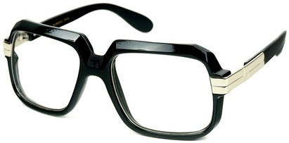 Angle of SW Oversized Clear Style #2272 in Black Frame, Women's and Men's