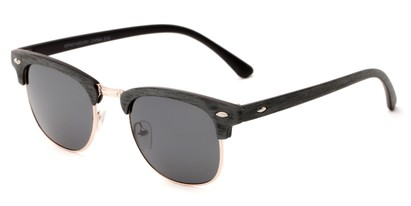 Angle of Sutro #4014 in Grey/Gold Frame with Grey Lenses, Women's and Men's Browline Sunglasses