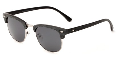 Angle of Sutro #4014 in Grey/Silver Frame with Grey Lenses, Women's and Men's Browline Sunglasses