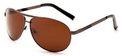 Angle of Memphis #506 in Bronze Frame with Brown Lenses, Women's and Men's Aviator Sunglasses