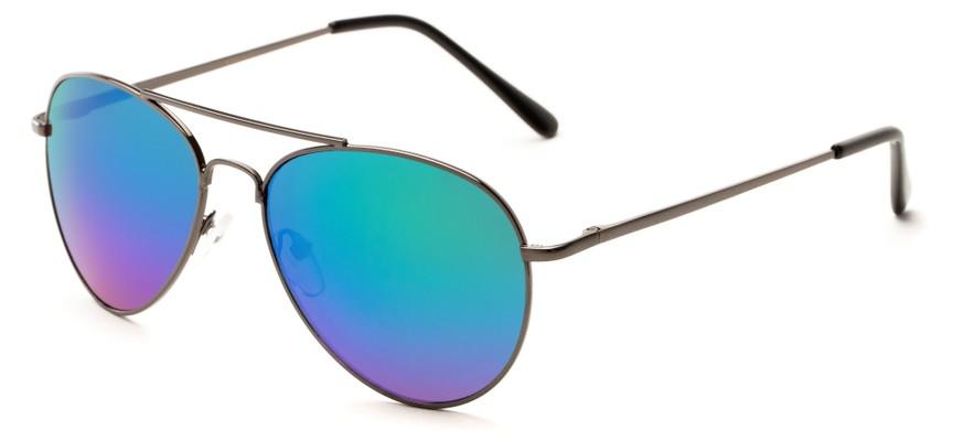 aviator blue sunglasses  Multi-Colored Mirrored Aviator Sunglasses