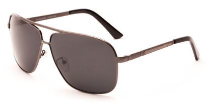 Angle of Mojave #1524 in Matte Grey Frame with Smoke Lenses, Men's Aviator Sunglasses