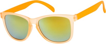 Angle of SW Neon Style #1615 in Orange Frame, Women's and Men's
