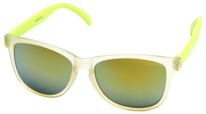 Angle of SW Neon Style #1615 in Yellow Frame, Women's and Men's