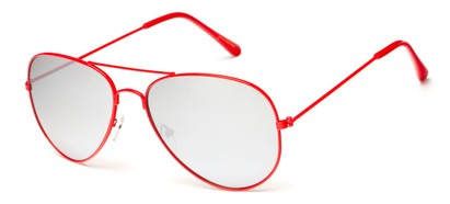 Red Mirrored Aviator Sunglasses
