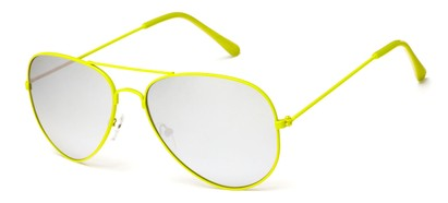 Yellow Mirrored Aviator Sunglasses