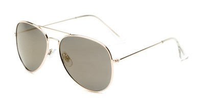 Angle of Nashville #2167 in Gold Frame with Gold Mirrored Lenses, Women's and Men's Aviator Sunglasses