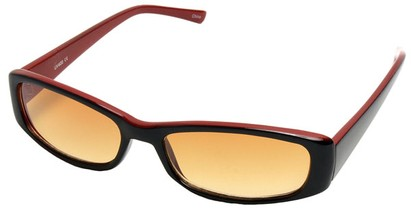 Angle of SW Fashion Style #10080 in Black and Red Frame, Women's and Men's