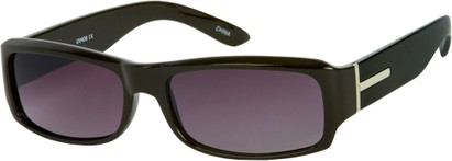 Angle of SW Classic Style #5588 in Black Frame with Rose Lenses, Women's and Men's