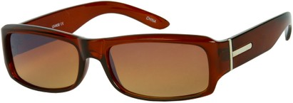 Angle of SW Classic Style #5588 in Brown Frame with Amber Lenses, Women's and Men's