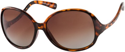 Angle of Scout #4265 in Tortoise Frame with Amber Lenses, Women's and Men's Round Sunglasses