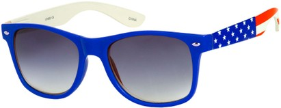 Angle of SW American Flag Retro Style #9234 in Blue Frame with Flag Temples, Women's and Men's