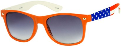 Angle of SW American Flag Retro Style #9234 in Orange Frame with Flag Temples, Women's and Men's
