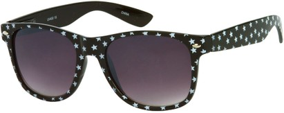 Angle of SW Retro Star Style #9907 in Black Frame, Women's and Men's