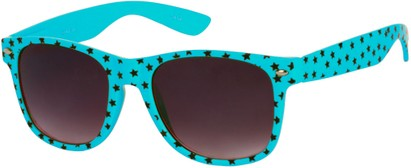 Angle of SW Retro Star Style #9907 in Blue Frame, Women's and Men's