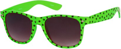 Angle of SW Retro Star Style #9907 in Lime Green Frame, Women's and Men's