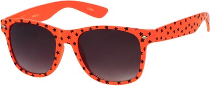 Angle of SW Retro Star Style #9907 in Orange Frame, Women's and Men's