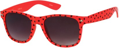 Angle of SW Retro Star Style #9907 in Red Frame, Women's and Men's