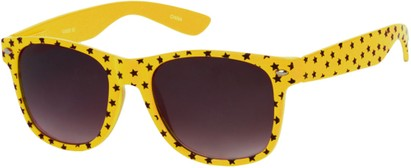 Angle of SW Retro Star Style #9907 in Yellow Frame, Women's and Men's