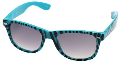 Angle of SW Zebra Style #9750 in Blue Frame, Women's and Men's