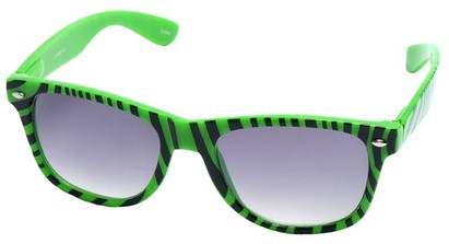 Angle of SW Zebra Style #9750 in Green Frame, Women's and Men's
