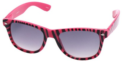 Angle of SW Zebra Style #9750 in Pink Frame, Women's and Men's