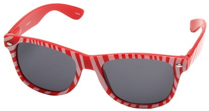 Angle of SW Zebra Style #9750 in Red Frame, Women's and Men's