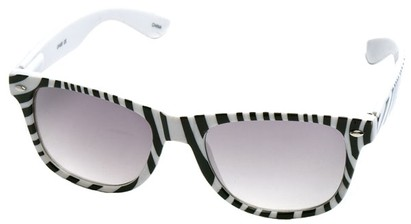 Angle of SW Zebra Style #9750 in White Frame, Women's and Men's
