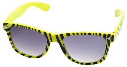 Angle of SW Zebra Style #9750 in Yellow Frame, Women's and Men's