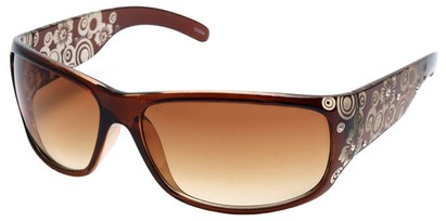 Angle of SW Rhinestone Style #1551 in Brown Frame, Women's and Men's