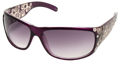 Angle of SW Rhinestone Style #1551 in Purple Frame, Women's and Men's