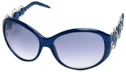 Angle of SW Oversized Style #163 in Blue Frame, Women's and Men's